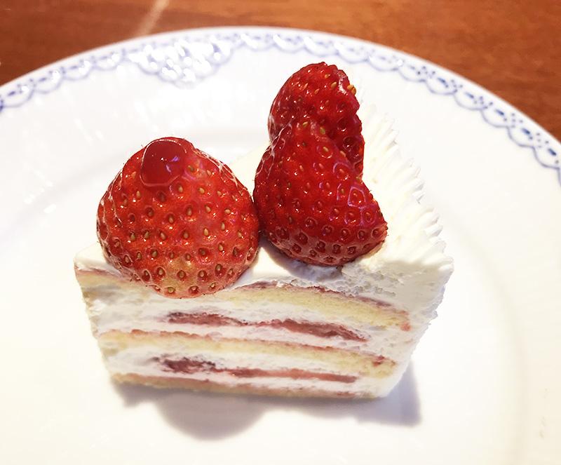 神乃珈琲 あまおう苺のショートケーキ