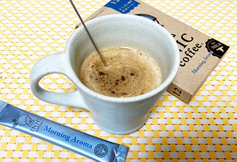 INIC カフェオレ専用モーニングアロマ飲んでみた